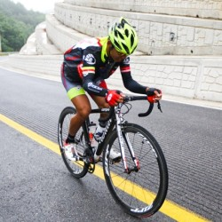 OCBC Singapore Pro Cycling Team rider Low Ji Wen competes in Stage 6 of the Tour de Korea on 14 June 2013 in Yangyang, Korea.